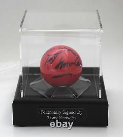Tony Knowles Signé Autograph Snooker Ball Display Case Sport Aftal & Coa