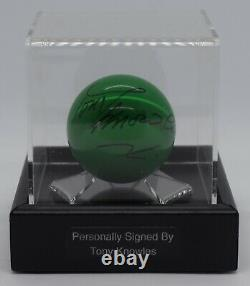 Tony Knowles Signé Snooker Autograph Ball Display Case Sport & Aftal Coa