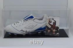 Tony Livre Signé Autograph Football Boot Display Case Manchester City Coa