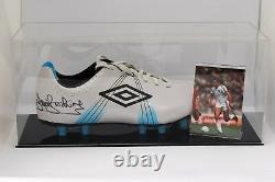 Trevor Brooking Signé Autograph Football Boot Display Case West Ham Aftal Coa
