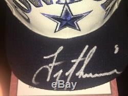 Troy Aikman Dallas Cowboys Autographed Super Bowl Hat Avec Affichage De Cas Et Coa