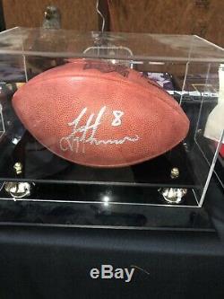 Troy Aikman Dallas Cowboys Football NFL Signés Avec Affichage Officiel Cas Coa