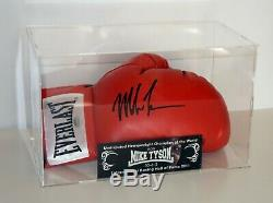 Tyson Signé Mike Autographié Everlast Gant De Boxe En Cas D'affichage Schwartz Coa