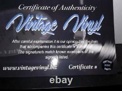 Van Halen Guitare Signée À La Main Par Eddie Alex Michael David Dans Display Case Withcoa