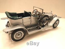Voiture Miniature Et Fantaisie Silver Ghost 124 Franklin Mint Rolls-royce Avec Présentoir, Coa