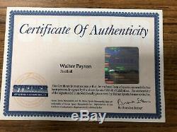 Walter Payton A Signé Autographes Le Football Steiner Coa Avec Vitrine Uv