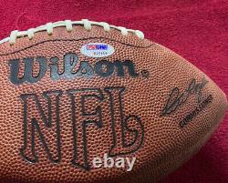 Walter Payton Autographié Football Psa Coa #s10619 Premium Mirrored Displaycase