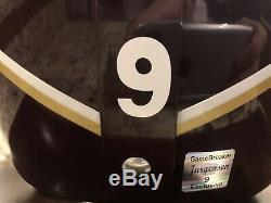 Washington Redskins Sonny Jurgensen Signe Hof 83 Casques Withcoa & Vitrine