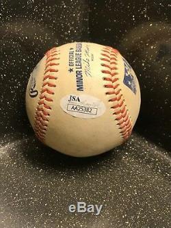 Wil Myers Autographié Jeu Utilisé Baseball Avec Affichage De Cas Et Jsa Coa
