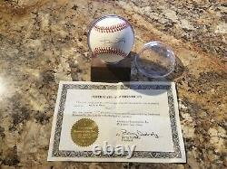 Willie Mays Signed Autographed William White Baseball Withcoa And Display Case