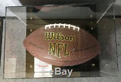 Wilson Football De La NFL Signé Par Aaron Rodgers Avec Affichage Cas Et L'aco