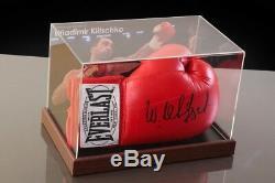 Wladimir Klitschko Signé Gant De Boxe Vitrine Autographe Souvenirs Coa