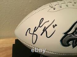 Zach Ertz Autographié Aigles Full Size Football Avec Vitrine Jsa Témoin Coa
